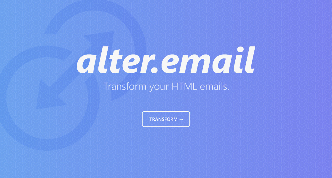 Alter.Email | Transform your HTML emails